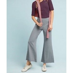 Anthropologie Sloan Flare Puddle Pants NWT Grey Md